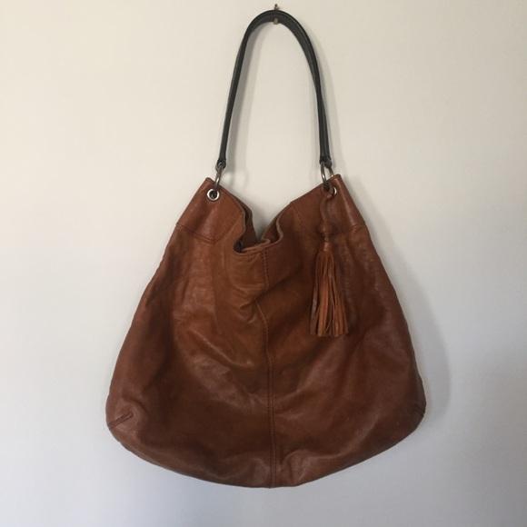 Banana Republic Handbags - BANANA REPUBLIC Caramel Brown Leather Hobo Bag bf690cc56c32b